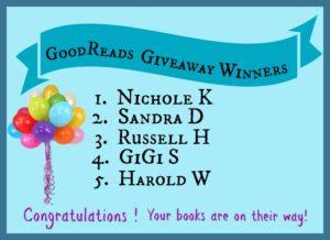 Goodreads Giveaway Winners