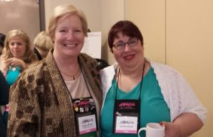 Me with Christine Merrill (author)