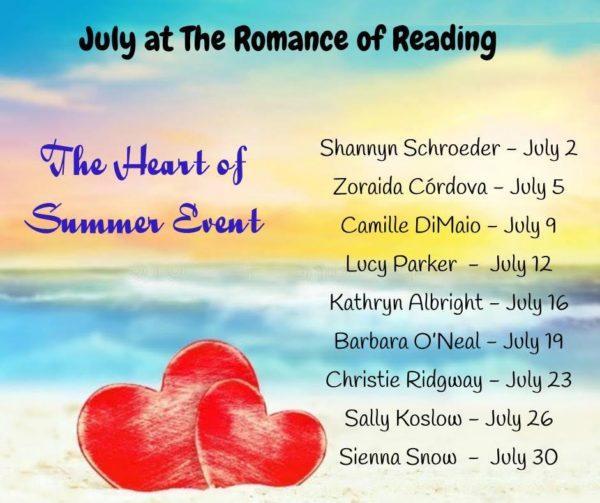 Romance of Reading July meme
